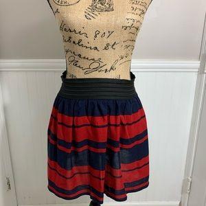 ⭐️Five for $25⭐️Red & Blue Stripe Mini Skirt